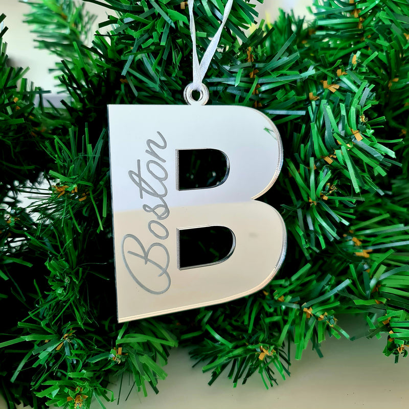 Personalised Christmas Tree Decorations - Letter