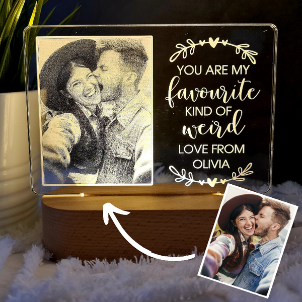 Valentine's Day Personalised Photo Light - Favourite Weird