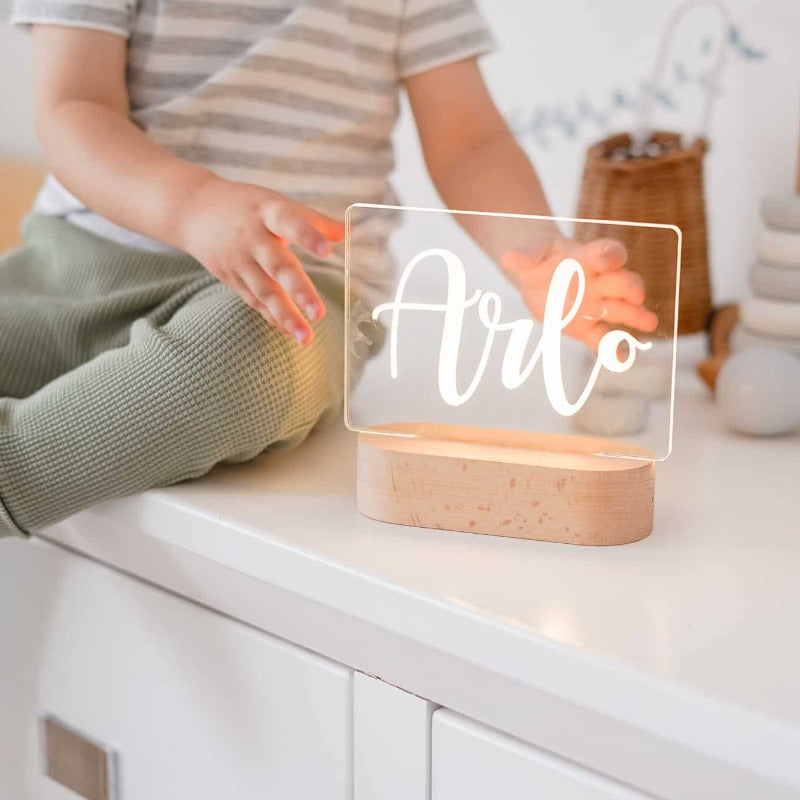 Personalised Baby Night Light - Script