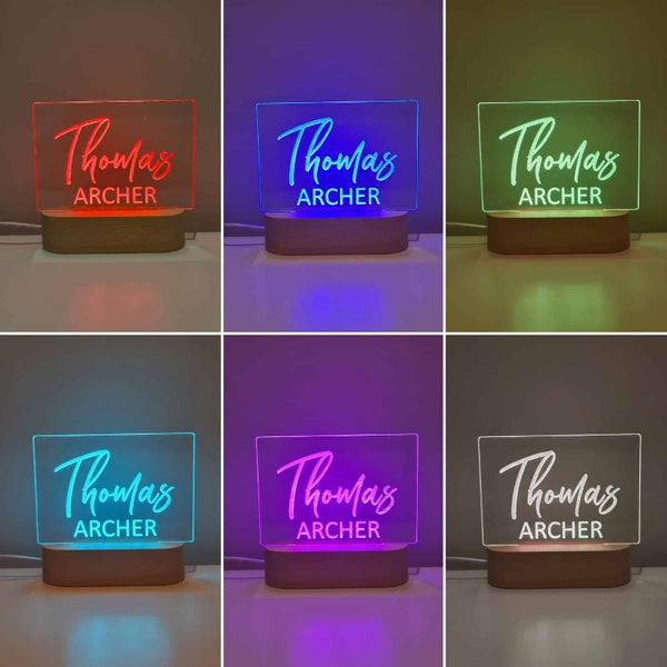 Personalised Kids Night Light - Signature 2 names