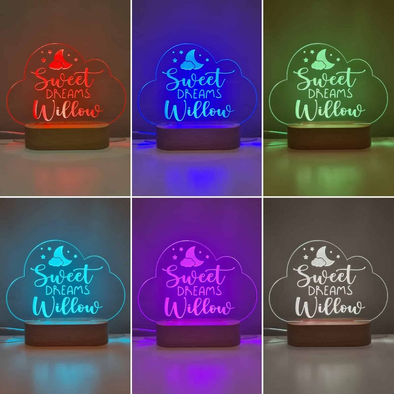 Personalised Baby Night Light - Cloud