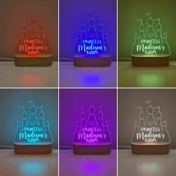 Personalised Baby Night Light - Castle