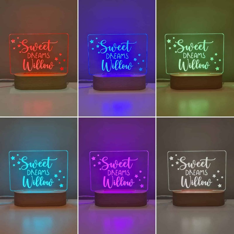 Personalised Baby Night Light - Stars