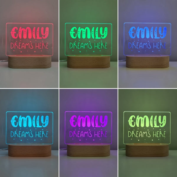 Personalised Baby Night Light - Dreamer
