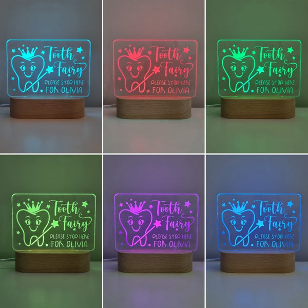 Personalised Baby Night Light - Tooth Fairy