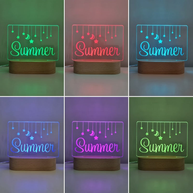 Personalised Baby Night Light - Hanging Stars