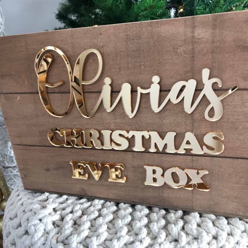 Personalised Christmas Eve Box Sign