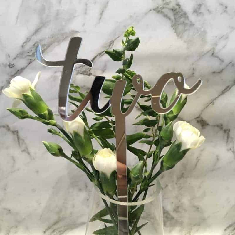 Silver Table Numbers 1 – 15 Mirror Acrylic