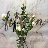Silver Table Numbers 1 – 20 Mirror Acrylic