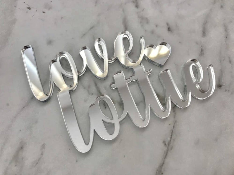 Custom Mr & Mrs Name Wedding Cake Topper Date