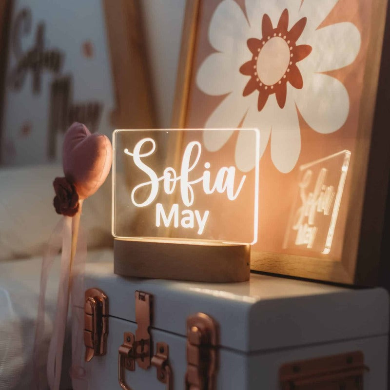 Personalised Kids Night Light - Script 2 names