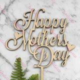 Happy Mothers Day Rustic Wood Cake Topper