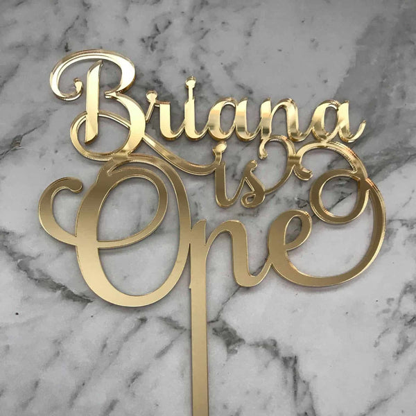 Custom Name/Age Birthday Cake Topper Style Briana