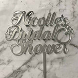 bridal shower cake topper