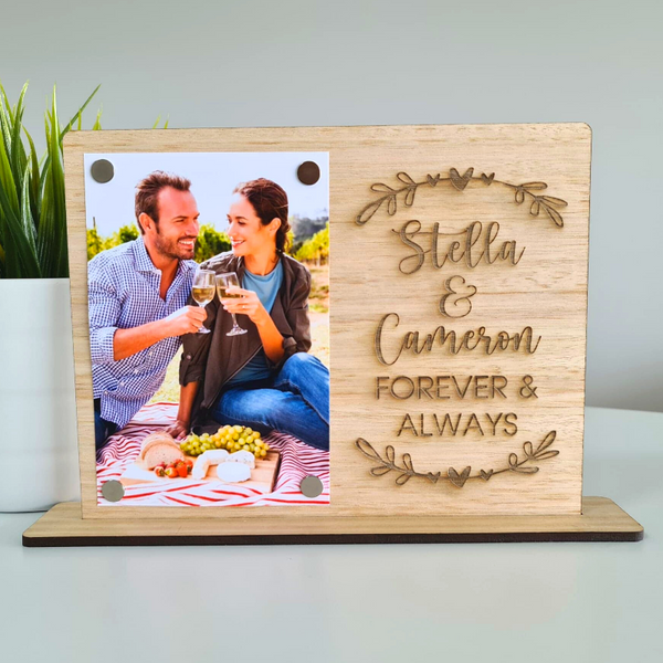 Personalised Valentines Day Gift Photo Frame - Forever