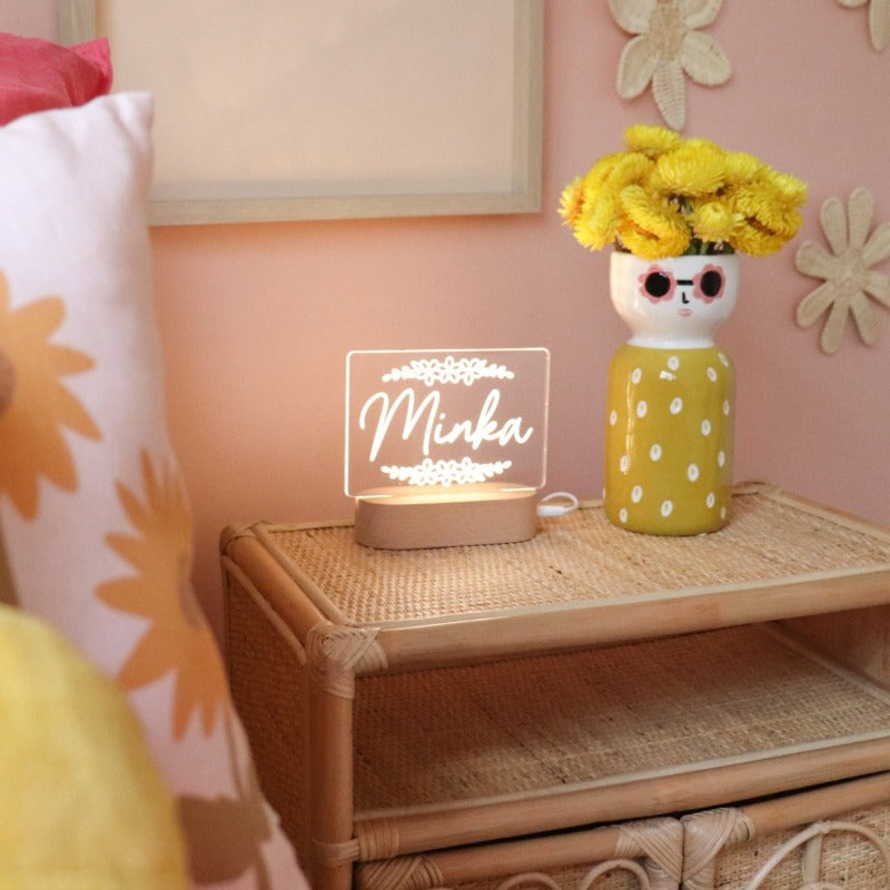 Personalised Baby Night Light - Flower Child