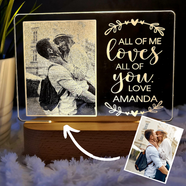 Valentine's Day Personalised Photo Light - Loves You
