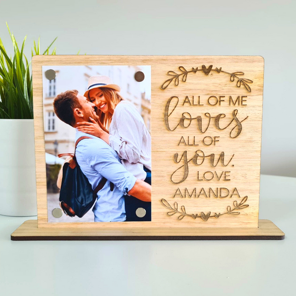 Personalised Valentines Day Gift Photo Frame - Loves All