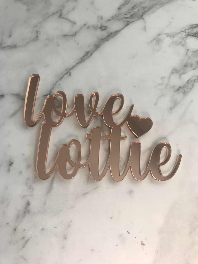 Custom Name Bridal Shower Cake Topper Nicolle