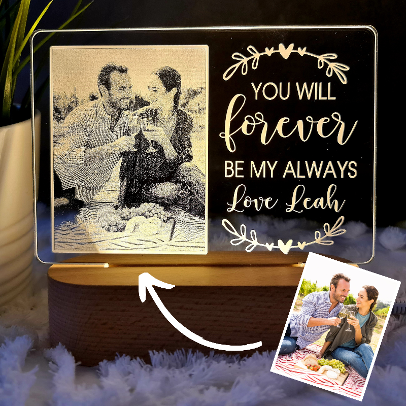 Valentine's Day Personalised Photo Light - Forever Always