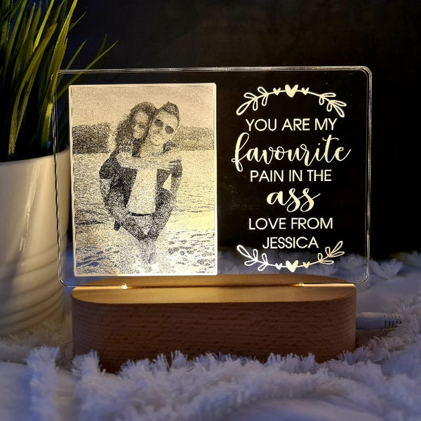 Valentine's Day Personalised Photo Light - Favourite Pain