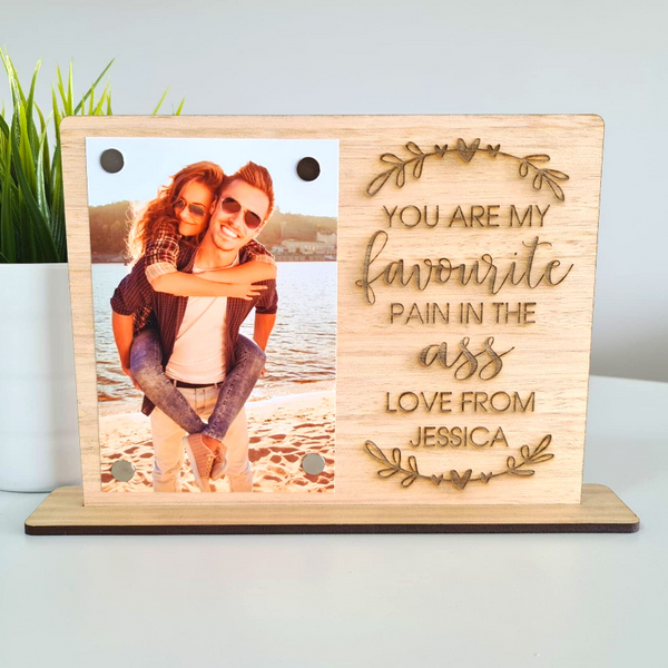 Personalised Valentines Day Gift Photo Frame - Favourite