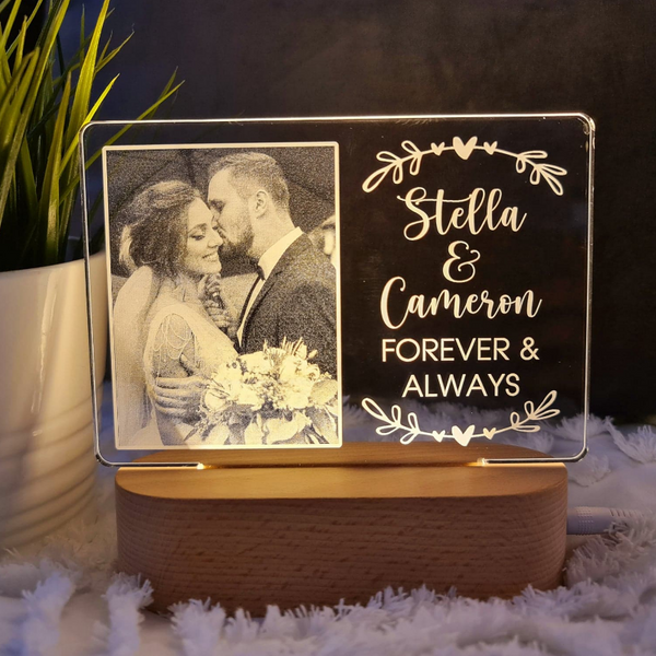 Valentine's Day Personalised Photo Light - Forever