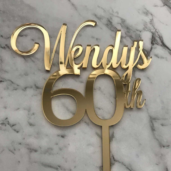 Custom Name/Age Birthday Cake Topper Style Wendy