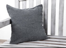 Load image into Gallery viewer, 100% Linen Grey Herringbone Throw and 2 Cushion Covers