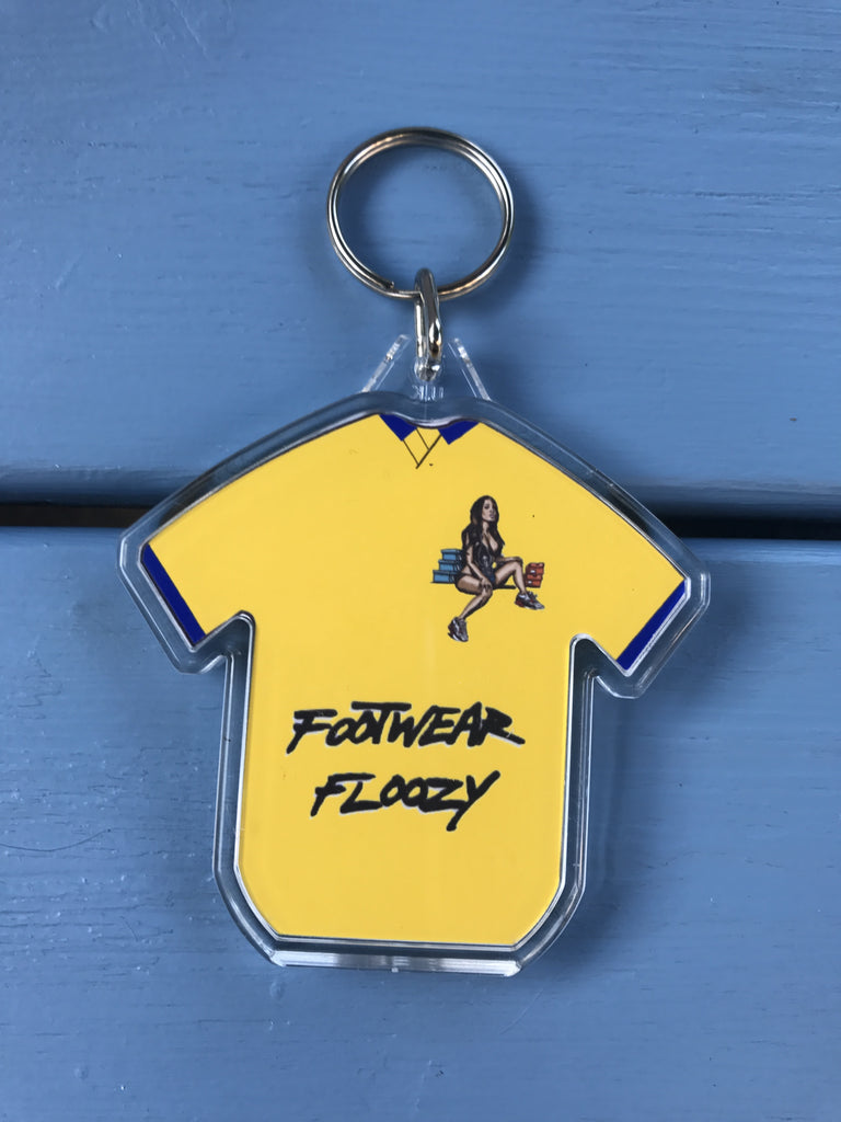 Footwear Floozy football shirt keyring - Yellow