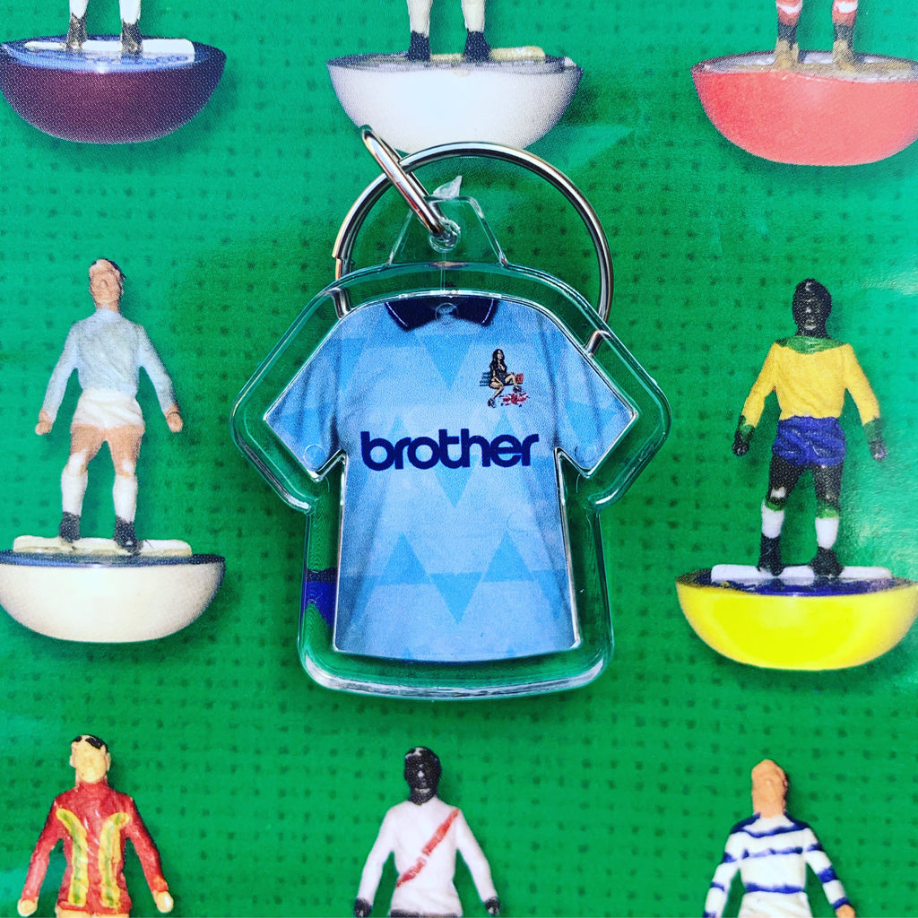 Retro football shirt keyring - Manchester City