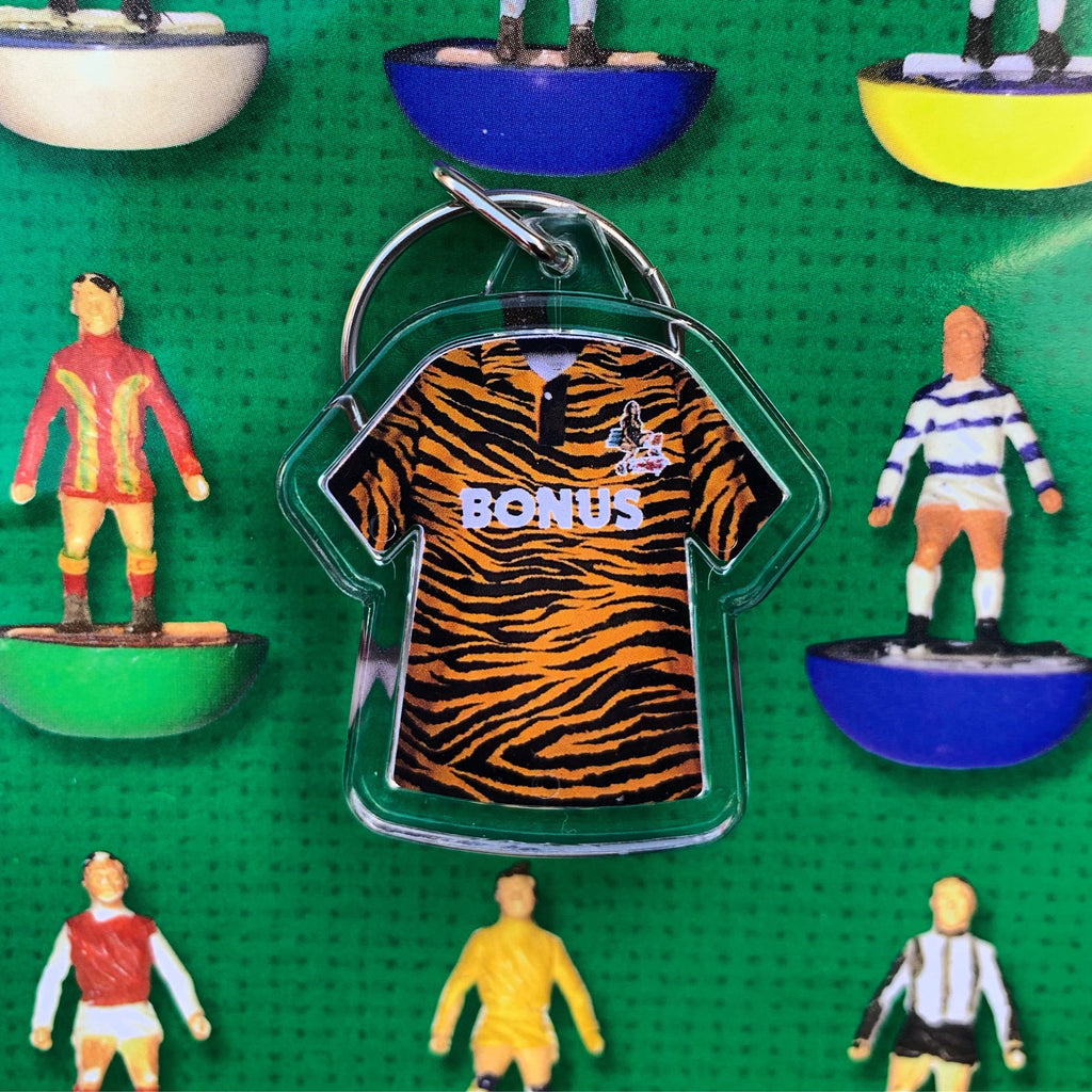 Retro football kit keyring - Hull City