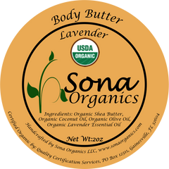 Body Butter- Certified USDA Organic