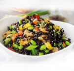 Middle Eastern Inspired Pomegranate & Black Rice Salad
