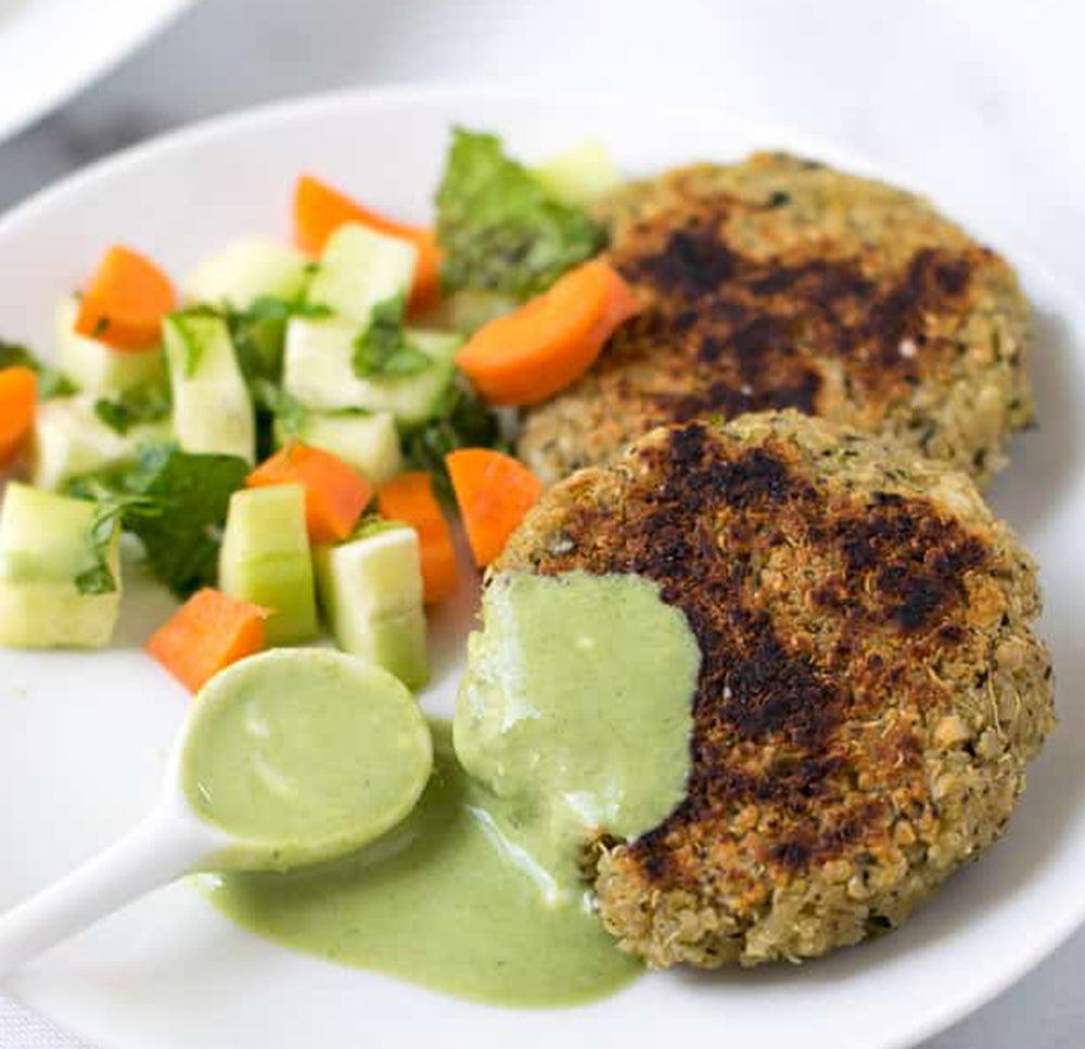 Quinoa and Potato Tikki