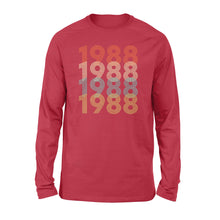 Load image into Gallery viewer, Year Of Birth Gift Best Gift For Birthday 1988 - Standard Long Sleeve