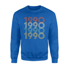 Load image into Gallery viewer, Year Of Birth Gift Best Gift For Birthday 1990 - Standard Crew Neck Sweatshirt