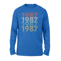 Year Of Birth Gift Best Gift For Birthday 1987 - Standard Long Sleeve