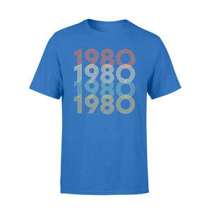 Year Of Birth Gift Best Gift For Birthday 1980 - Standard T-shirt