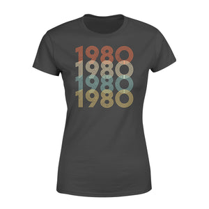 Year Of Birth Gift Best Gift For Birthday 1980 - Standard Women's T-shirt