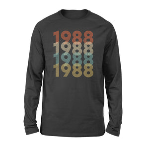 Year Of Birth Gift Best Gift For Birthday 1988 - Standard Long Sleeve