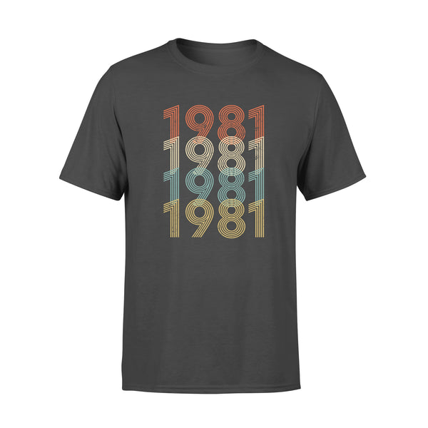 Year Of Birth Gift Best Gift For Birthday 1981 - Standard T-shirt