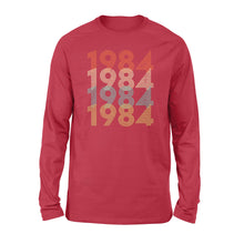 Load image into Gallery viewer, Year Of Birth Gift Best Gift For Birthday 1984 - Standard Long Sleeve