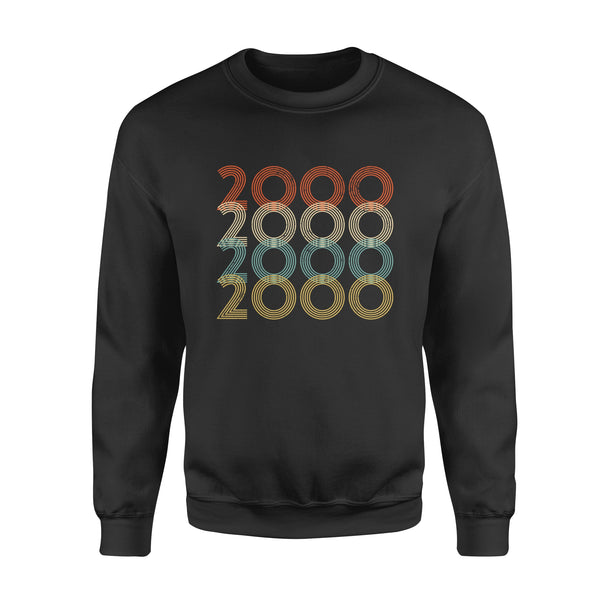 Year Of Birth Gift Best Gift For Birthday 2000 - Standard Crew Neck Sweatshirt