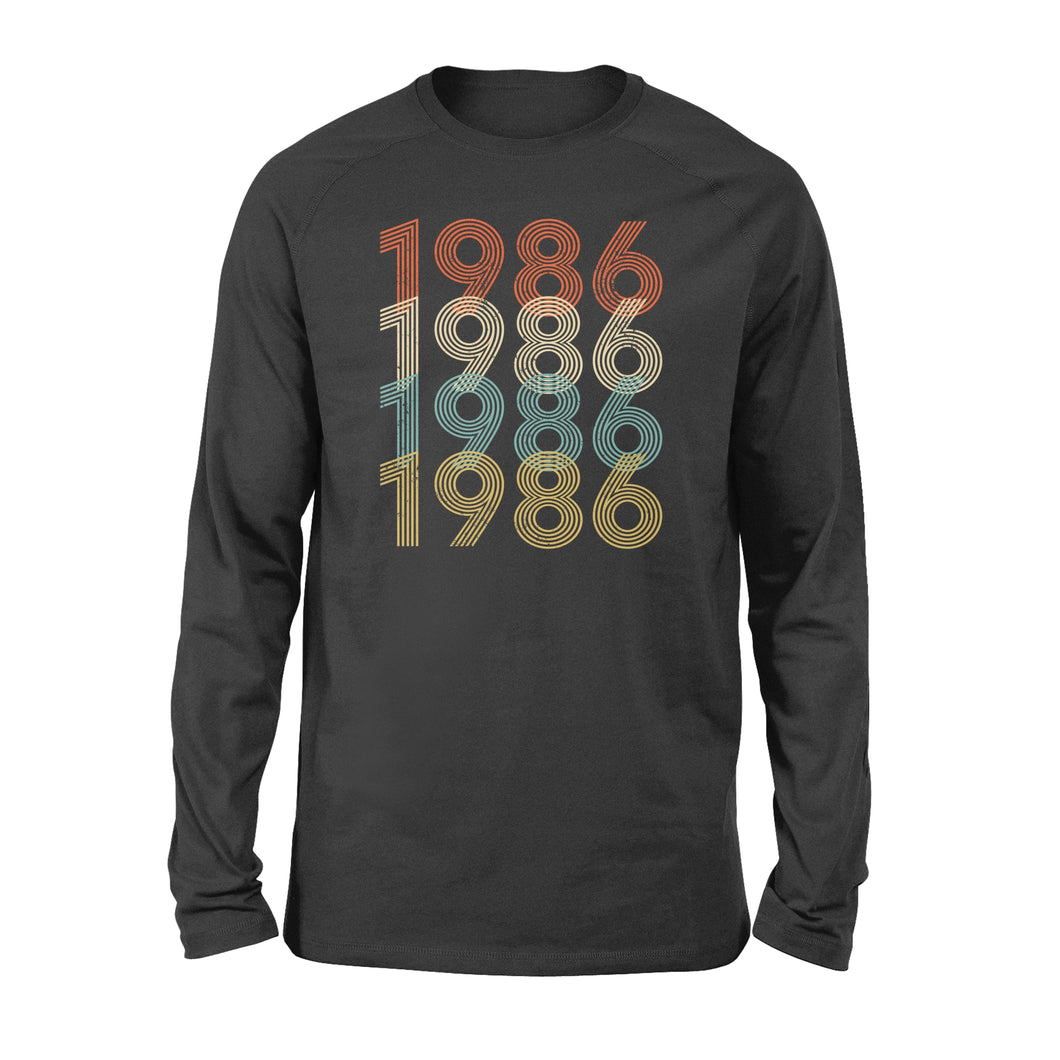 Year Of Birth Gift Best Gift For Birthday 1986 - Standard Long Sleeve