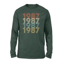 Load image into Gallery viewer, Year Of Birth Gift Best Gift For Birthday 1987 - Standard Long Sleeve