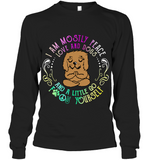 Goldendoodle I'm Mostly Peace Love And Dogs And A Little Go F Yourself