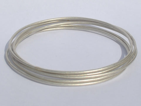 Sterling Silver Hammered Polished Bangles / Bracelets - Stacking
