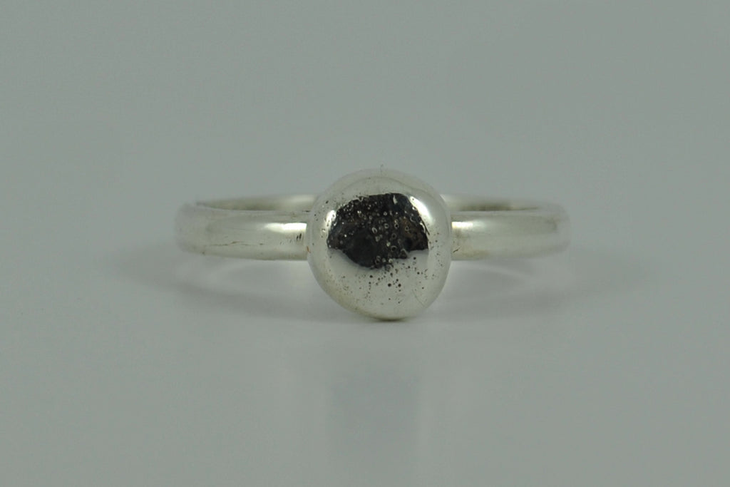 Recycled Sterling Silver Stacking Pebble Ring