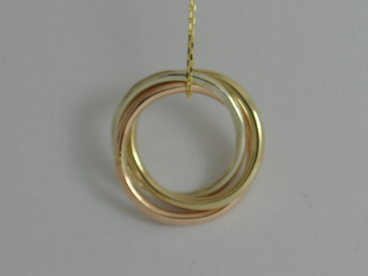 Solid gold russian ring pendant necklace tri colour yellow gold solid gold russian ring pendant necklace tri colour yellow gold white gold rose gold jewellery aloadofball Images